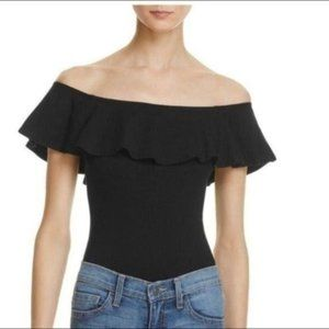 LAST CHANCE Mustard Seed Off Shoulder Black Top S